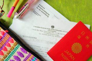 パスポートと住民登録書類