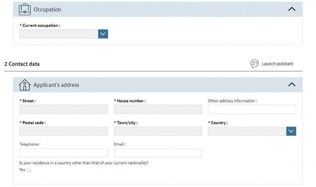ビザ申請書-contactdata