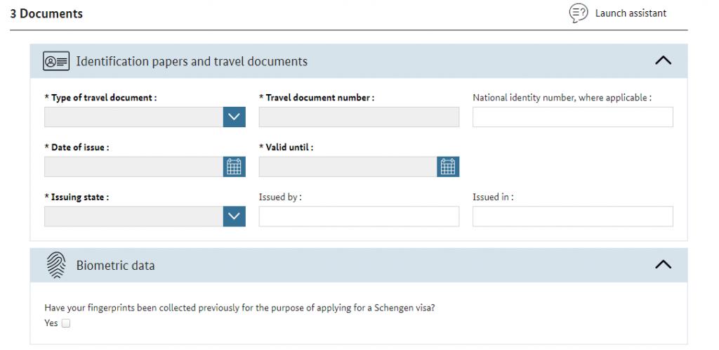 ビザ申請書-documents