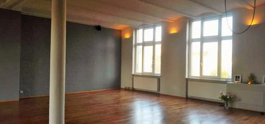 yoga-now-berlinのスタジオ内部